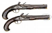 PAIR OF GERMAN RIFLED FLINTLOCK PISTOLS BY ANDREAS GANS, AUGSBURG, CIRCA 1735.