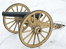 RARE CIVIL WAR PHOENIX IRONWORKS 6-POUNDER FIELD CANNON AND LIMBER.