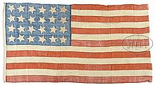 TWENTY FOUR STAR AMERICAN FLAG 1822-1836.