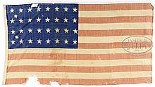 CIVIL WAR 34 STAR FLAG FROM BALTIMORE ESTATE.