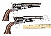 EXTREMELY RARE MATCHED BRACE OF COLT MODEL 1860 ARMY PERCUSSION REVOLVERS WITH 6