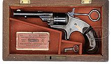 RARE CASED 1ST MODEL COLT OPEN TOP 22 SPUR TRIGGER REVOLVER.