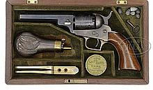 RARE CASED BABY DRAGOON PERCUSSION REVOLVER.