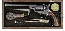 SCARCE CASED COLT BABY DRAGOON PERCUSSION REVOLVER.