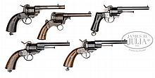 COLLECTION OF 15 EUROPEAN MILITARY LEFAUCHEUX MODEL 1854 - 1862 MARTIAL REVOLVERS.