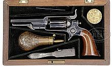 CASED COLT 1855 ROOT MODEL 3 SIDEHAMMER PERCUSSION REVOLVER.