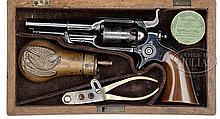 SCARCE CASED COLT ROOT 1855 MODEL 7 PERCUSSION REVOLVER.
