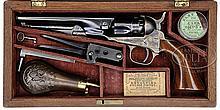 SCARCE CASED COLT MODEL 1862 POLICE PERCUSSION REVOLVER.