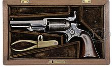 VERY RARE CASED COLT ROOT 1855 MODEL 1A PERCUSSION REVOLVER.