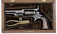 VERY RARE CASED COLT ROOT 1855 MODEL 1A PERCUSSION REVOLVER.