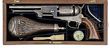 EXTREMELY FINE OUTSTANDING CASED 1ST MODEL COLT DRAGOON PERCUSSION REVOLVER.