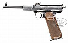 OUTSTANDING AND VERY RARE SCHWARTZLOSE M1898 STANDART PISTOL, 8 SHOT LONG GRIP VARIANT.