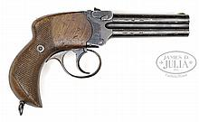 SCARCE LANCASTER 4 BARREL PISTOL .380 CALIBER.