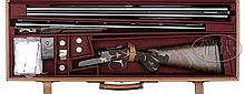 *EXCEPTIONALLY FINE WINCHESTER MODEL 21 GRAND AMERICAN WITH EXTRA BARRELS AND CASE.