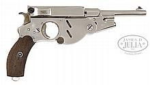 BERGMANN M1896, NUMBER 3, NICKEL FINISH.