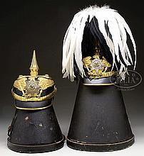 TWO PRUSSIAN GENERAL OFFICER'S HELMETS.
