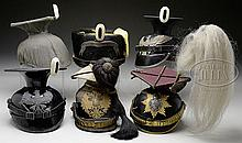 SELECTION OF VARIED LIGHT CAVALRY HELMETS OF WWI ERA.