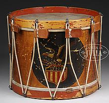 ORIGINAL CIVIL WAR MILITARY DRUM.