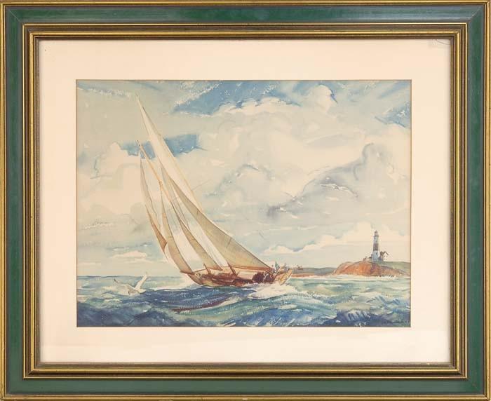 YNGVE EDWARD SODERBERG (American, 1896-1971) STIFF BREEZE