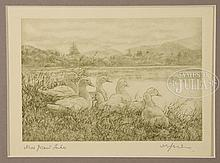 THREE ENGRAVINGS BY WILLY SEILER.