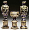 MOSER THREE PIECE GARNITURE SET.