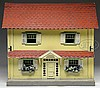 LARGE 3/4 SCALE RED ROOF SCHOENHUT DOLLHOUSE.