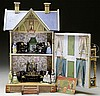 GOTTSCHALK BLUE ROOF DOLLHOUSE.
