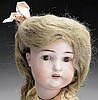 ALL ORIGINAL BISQUE HEAD DOLL IN ORIGINAL BOX.