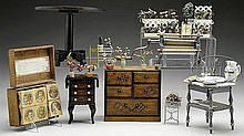 LOT OF DOLL FURNITURE & ACCESSORIES.