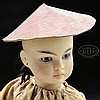 GERMAN BISQUE PORTRAIT DOLL OF ASIAN CHILD.
