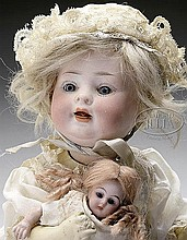 LOT OF TWO GERMAN BISQUE DOLLS.
