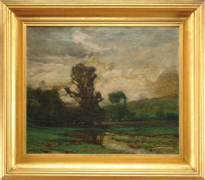 EDWARD LOYAL FIELD (American, 1856-1914) BARBIZON STYLE LANDSCAPE