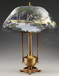 MOE BRIDGES SCENIC TABLE LAMP.