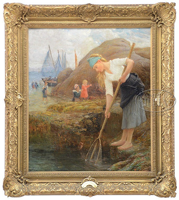 ALFRED GUILLOU (France, 1844-1926) FISHING IN THE INLET