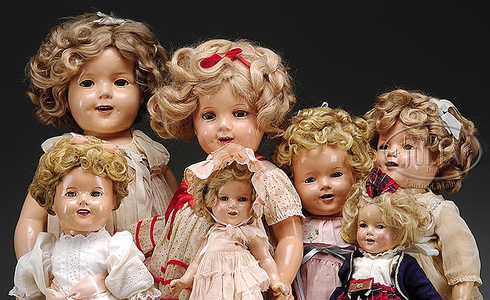 SEVEN IDEAL COMPANY SHIRLEY TEMPLE DOLLS.