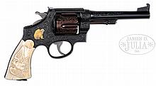 *INSCRIBED CUSTOM ENGRAVED SMITH & WESSON MODEL 1917 GOVERNMENT MODEL DA REVOLVER THAT BELONGED TO ELMER KEITH.