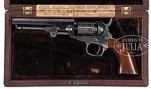 EXCEPTIONAL 5″ CIVIL WAR COLT MODEL 1849 POCKET PERCUSSION REVOLVER WITH COLUMBUS GEORGIA GUN DEALER COLT CASING.