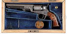 SCARCE CASED COLT MODEL 1849 LONDON POCKET PERCUSSION REVOLVER.