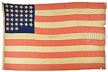 RARE & UNUSUAL CIVIL WAR 11 STRIPE AND 33 STAR FLAG.