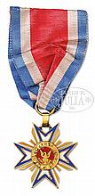 RARE GOLD AND ENAMEL MOLLUS MEDAL BELONGING AND ISSUED TO GENERAL GEORGE ARMSTRONG CUSTER.