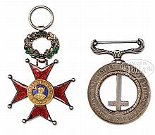 RARE AND UNIQUE MEDALS OF CAPTAIN MYLES KEOGH FROM CUSTER BATTLEFIELD.
