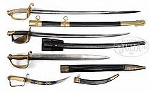 FOUR FINE NAVAL EDGED WEAPONS OF THE CIVIL WAR ERA.
