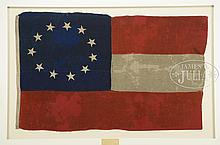RARE AND HISTORIC CONFEDERATE BOAT FLAG OF THE