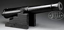 ONLY SURVIVING SPECIMEN, DANIEL TREADWELL MODEL 1841 IRON & STEEL 6-POUNDER GUN.