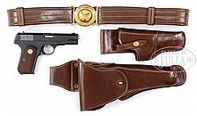 *COLT MODEL 1908 GENERAL OFFICER'S PISTOL, BELT & HOLSTERS THAT BELONGED TO MAJ. GEN. JONATHAN L. HOLMAN.