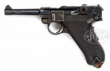 *EXTREMELY RARE 1906 DWM ROYAL PORTUGUESE NAVY MARKED COMMERCIAL LUGER PISTOL.
