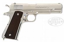 *EXTREMELY RARE SPECIAL ORDER COLT GOVERNMENT MODEL SEMI-AUTO PISTOL ONE OF ONLY 2 KNOWN TO EXIST WITH SILVER FINISH.