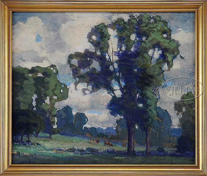 HARRY SPIERS (American, 1869 - 1947) SUMMER GRAZING.