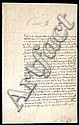 SIGNED ONE PAGE LETTER BY CHARLES I KING OF ENGLAND, SCOTLAND AND IRELAND