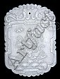 WHITE JADE PLAQUE.